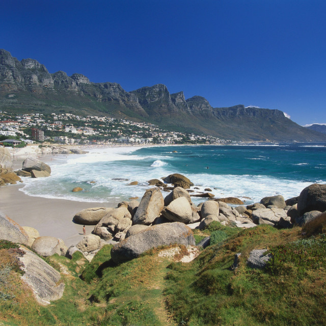"""Clifton Beach, Cape Town, South Africa"" stock image"