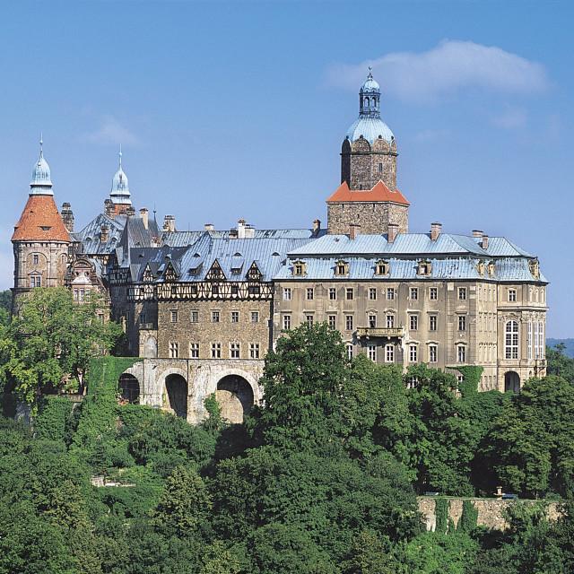 """""""Ksiaz Castle, Silesia, Poland"""" stock image"""