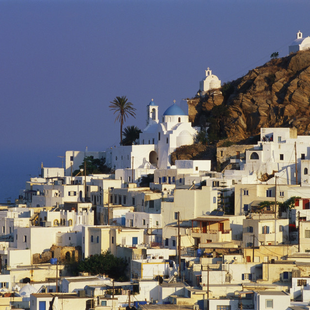 """Hora Town, Ios Island, The Cyclades, Greece"" stock image"