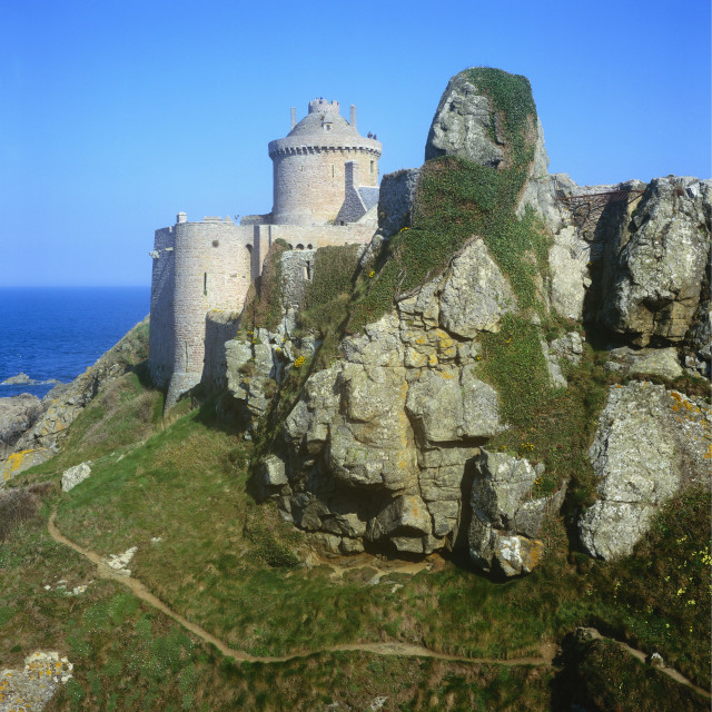 """Fort la Latte, Emerald Coast, Britanny, France"" stock image"