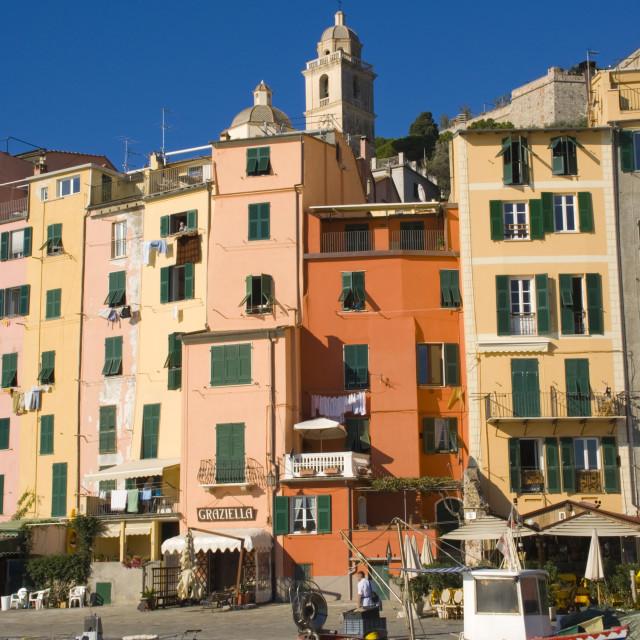 """""""Portovenere, Riviera di Levante, Liguria, Italy, Europe"""" stock image"""