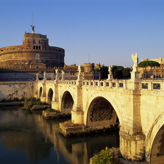 """Castle San Angelo, Rome, Italy"" stock image"