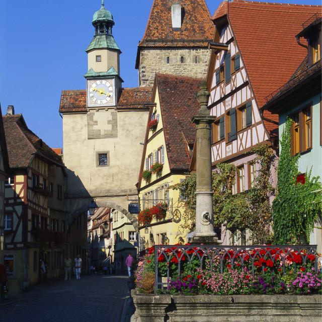 """Rothenburg ob der Tauber, Germany, Europe"" stock image"