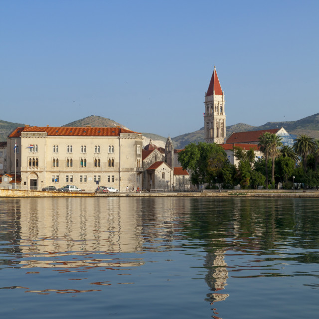 """Trogir, view of the cathedral across the water"" stock image"