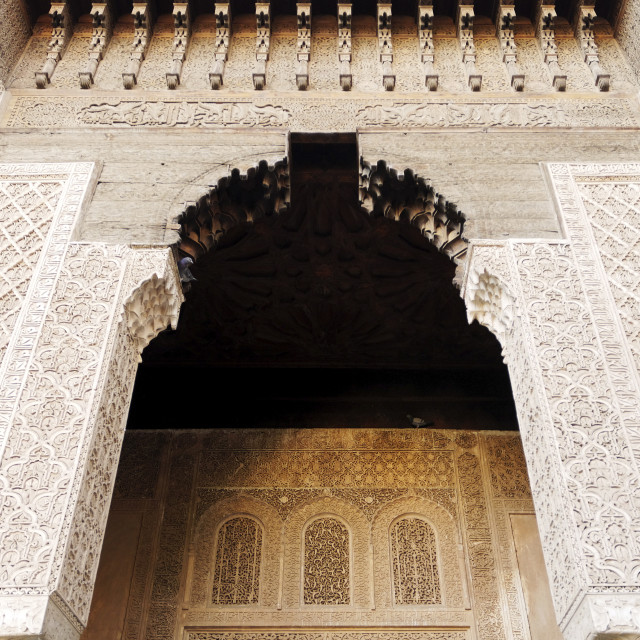 """""""Saadian tombs dating from the 16th century, Marrakesh, Morocco, North Africa"""" stock image"""