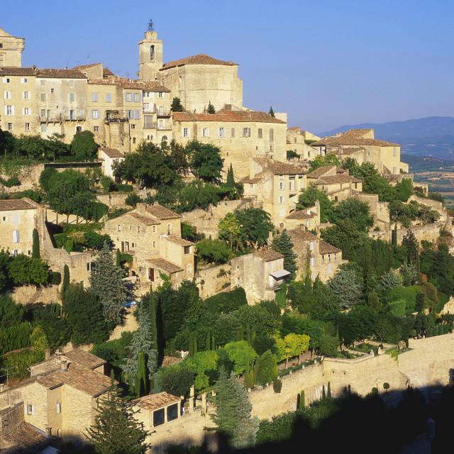 """""""Gordes, Vaucluse, Provence-Alpes-Cote d'Azur, France"""" stock image"""