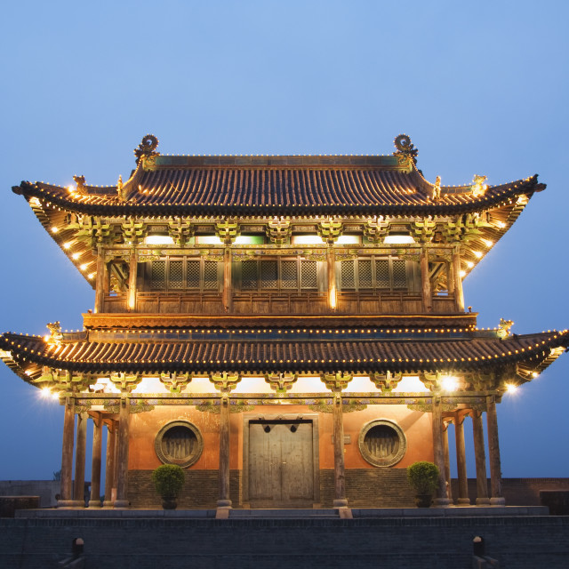 """Gate Tower on the last remaining intact Ming Dynasty City wall in China,..."" stock image"