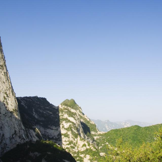 """Hua Shan, a granite peaked mountain of 2160m, Shaanxi Province, China, Asia"" stock image"
