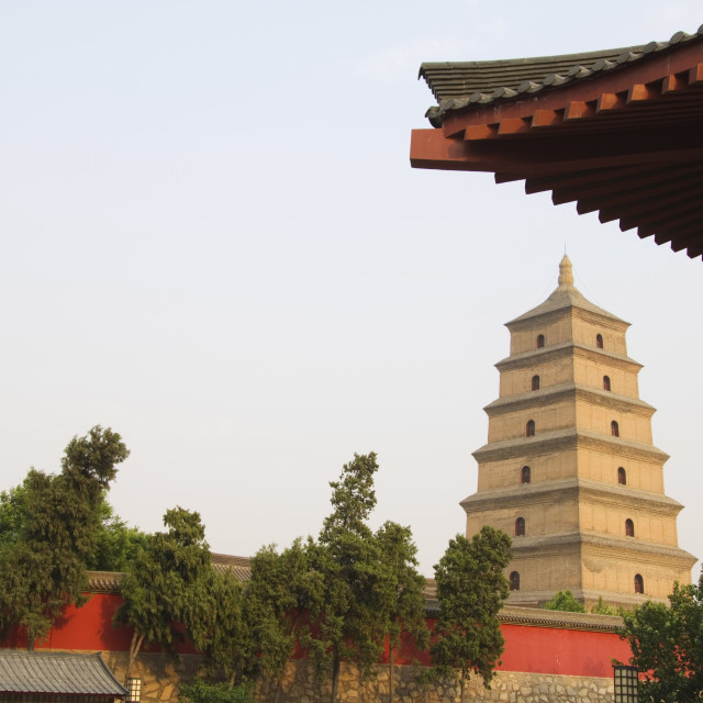 """Big Goose Pagoda, Tang Dynasty, built in 652 by Emperor Gaozong, Xian City,..."" stock image"