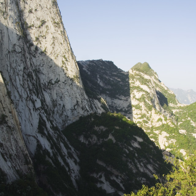 """Hua Shan, a granite peaked mountain of 2160m, Shaanxi Province, China, Asia"" stock image"
