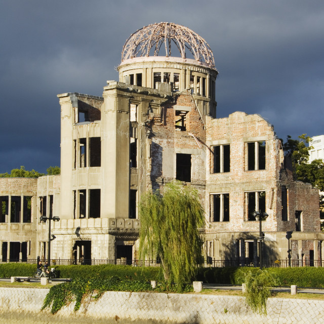 """Memorial Atomic A Bomb Site at Hiroshima Peace Park, UNESCO World Heritage..."" stock image"