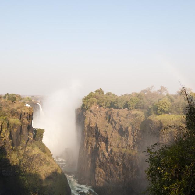 """Victoria Falls, UNESCO World Heritage Site, Zimbabwe, Africa"" stock image"
