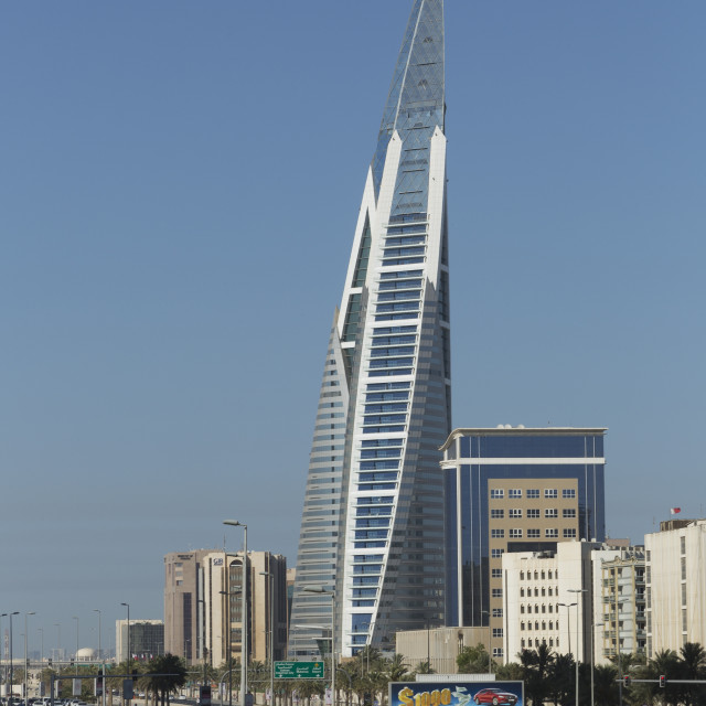 """Bahrain World Trade Center, Manama, Bahrain, Middle East"" stock image"