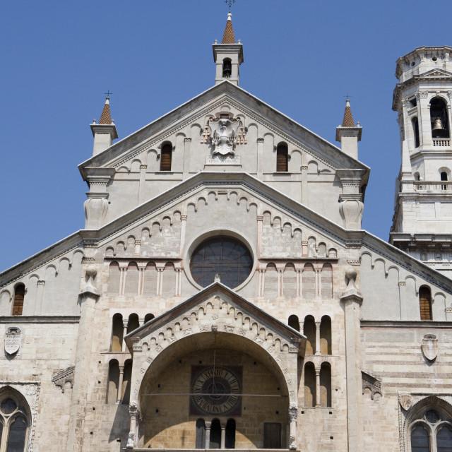 """Fa?ade of the Santa Maria Matricolare Duomo, Verona, Italy"" stock image"
