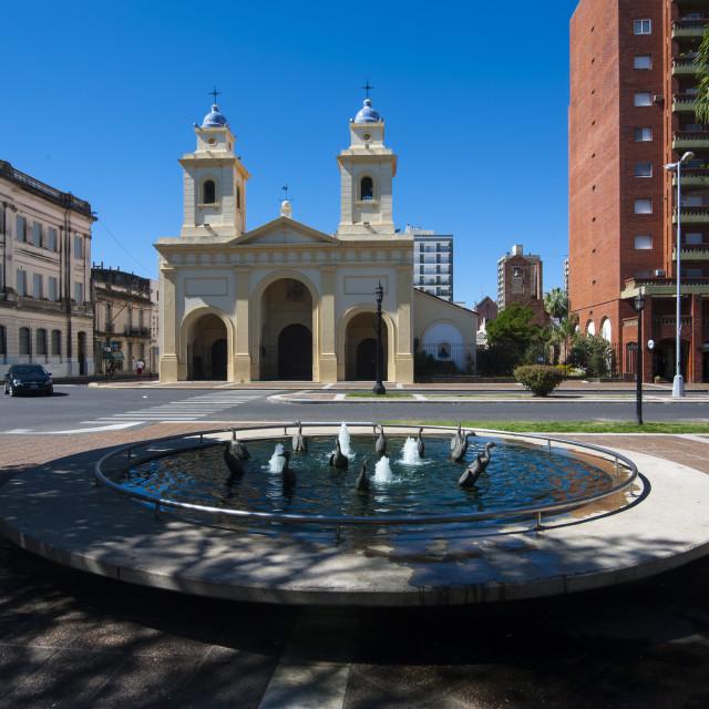 """Santa Fe, capital of the province of Santa Fe, Argentina, South America"" stock image"
