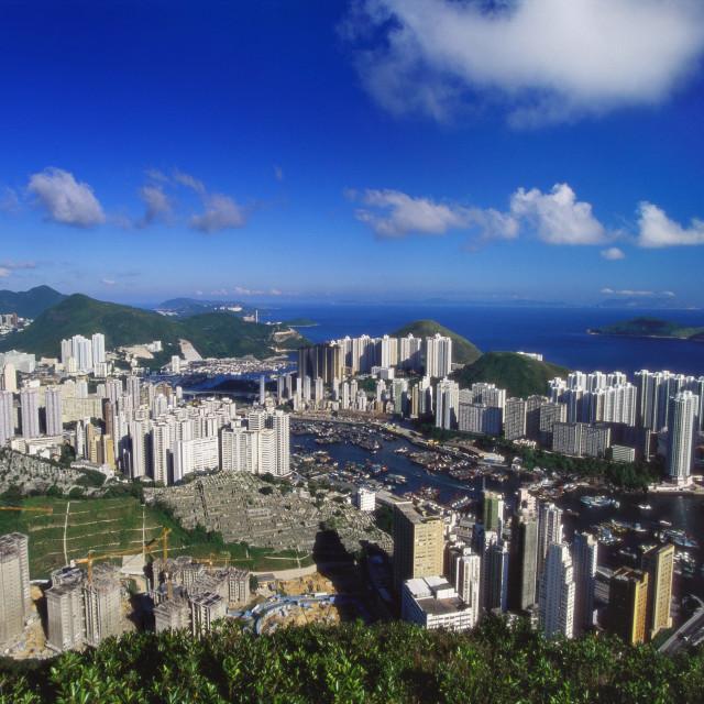 """Aberdeen Harbour, Hong Kong Island, Hong Kong, China"" stock image"