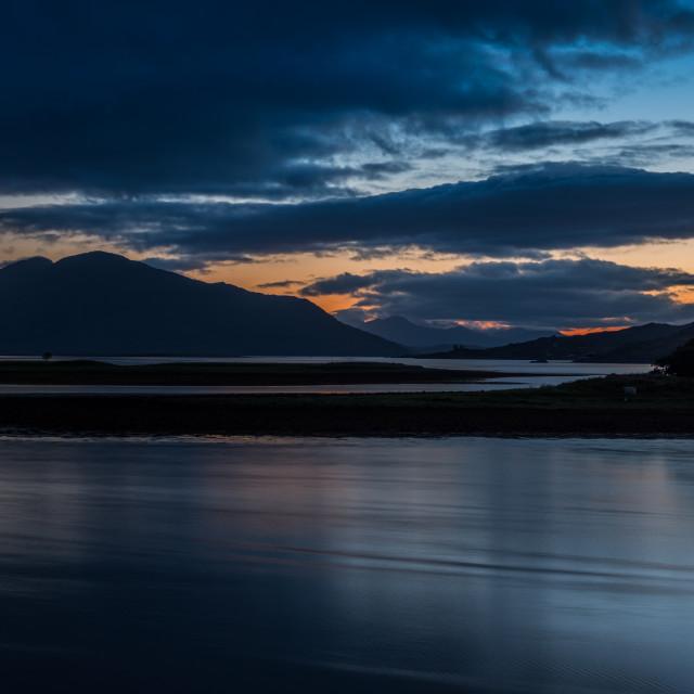 """""""Dusk at Loch Alsh"""" stock image"""