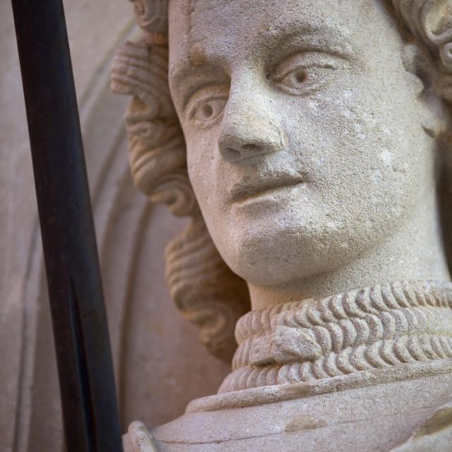 """Statue of Roland, Luza Square, Old Town, Dubrovnik Croatia, Europe"" stock image"