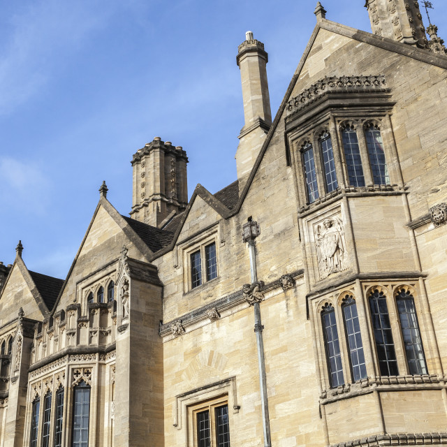 """Student accommodation in Magdalen College, Oxford, Oxfordshire, England,..."" stock image"
