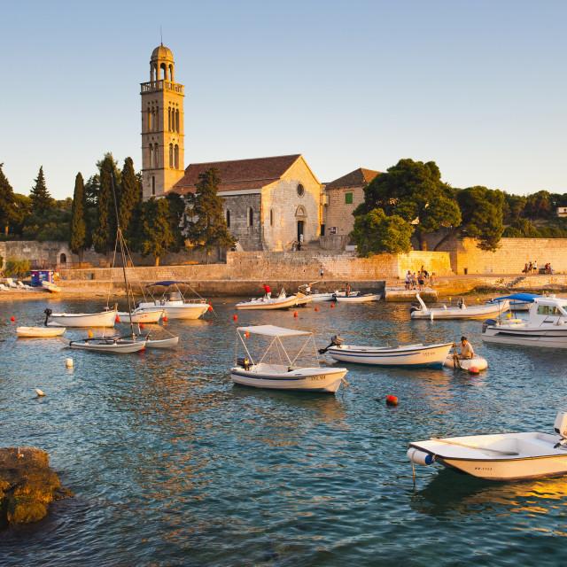"""Franciscan Monastery, Hvar Town, Hvar Island, Dalmatian Coast, Adriatic,..."" stock image"