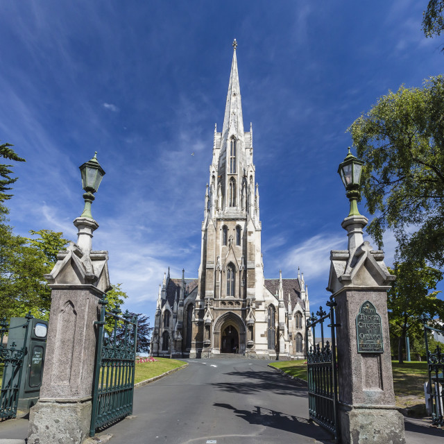 """""""The First Church of Otago in Dunedin, Otago, South Island, New Zealand, Pacific"""" stock image"""