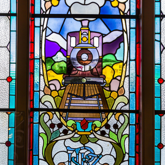 """Interior of the Dunedin Railway Station in Dunedin, Otago, South Island, New..."" stock image"