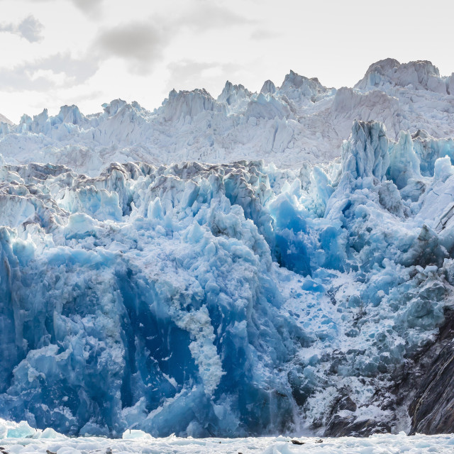 """""""South Sawyer Glacier, Tracy Arm-Ford's Terror Wilderness area, Southeast..."""" stock image"""