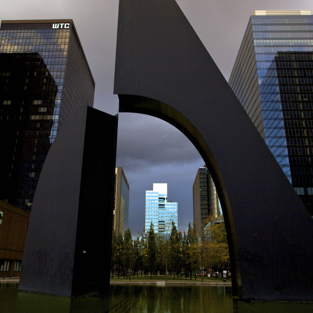 """World Trade Centre, Brussels, Belgium, Europe"" stock image"