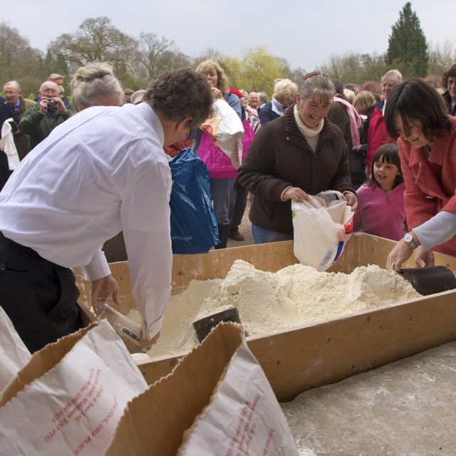 """""""Traditional English Festival of Tichborne Dole, Tichborne, Hampshire,..."""" stock image"""