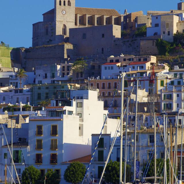 """Dalt Vila and Harbour, Ibiza Old Town, UNESCO World Heritage Site, Ibiza,..."" stock image"