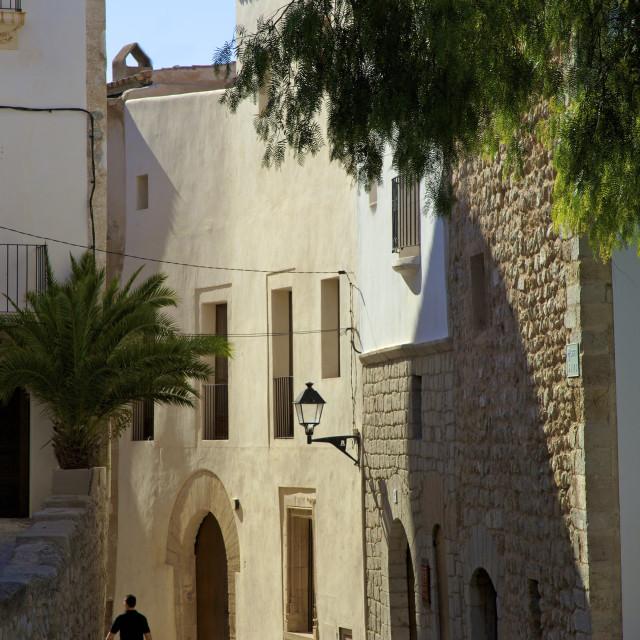 """Dalt Vila (Alta Vila), Ibiza Old Town, UNESCO World Heritage Site, Ibiza,..."" stock image"