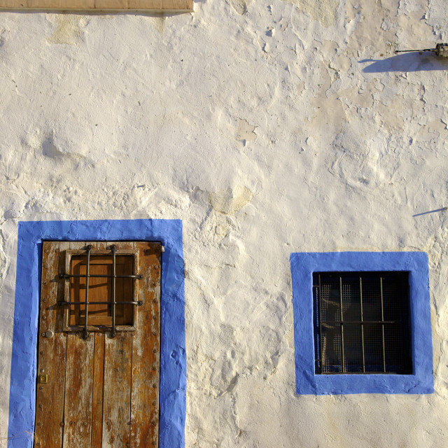 """Traditional House, Dalt Vila (Alta Vila), Ibiza Old Town, UNESCO World..."" stock image"