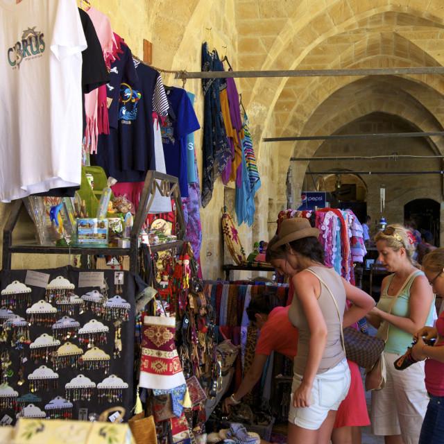 """Tourist Shop, Buyuk Han, North Nicosia (Lefkosa), North Cyprus, Cyprus, Europe"" stock image"