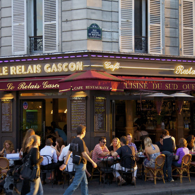 """Restaurant in Montmartre, Paris, France, Europe"" stock image"