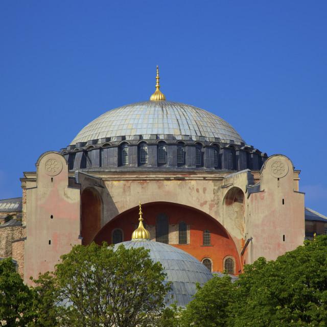 """Haghia Sophia, (Aya Sofya Mosque), The Church of Holy Wisdom, Istanbul, Turkey"" stock image"