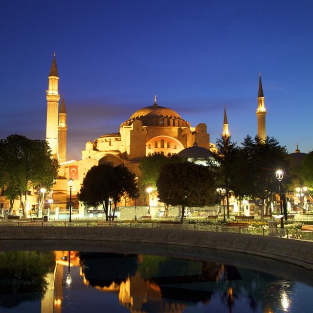 """Haghia Sophia at Sunrise, (Aya Sofya Mosque), The Church of Holy Wisdom,..."" stock image"