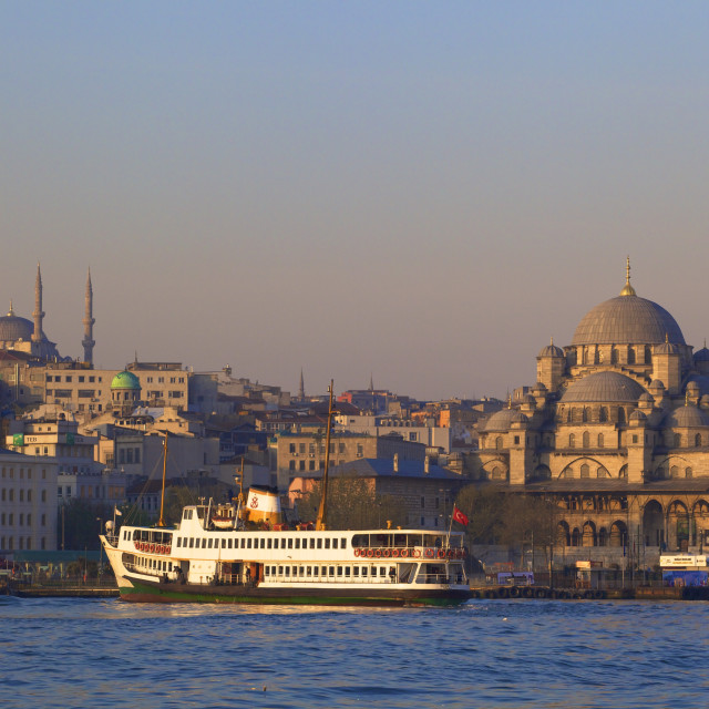 """New Mosque, Golden Horn, Istanbul, Turkey"" stock image"