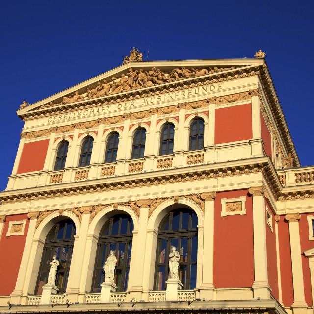 """Viennese Music Association, Vienna, Austria, Europe"" stock image"