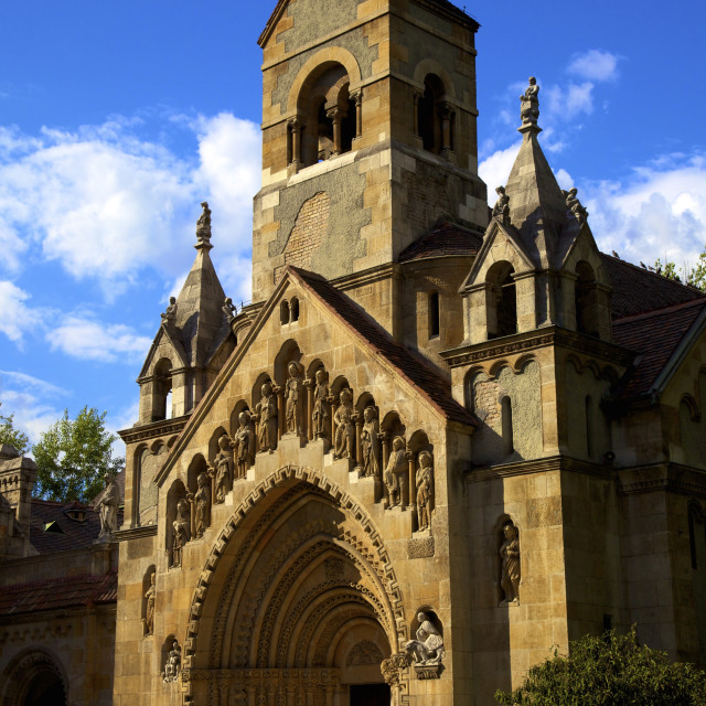 """Church of Jak, Vajdahunyad Castle, Budapest, Hungary, Europe"" stock image"