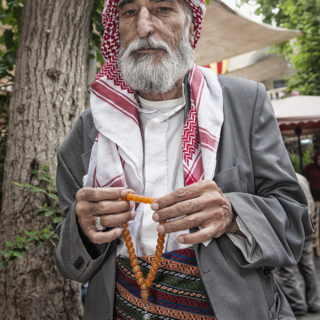"""Portrait of a Turkish man, Urfa, Anatolia, Eastern Turkey, Asia Minor, Eurasia"" stock image"