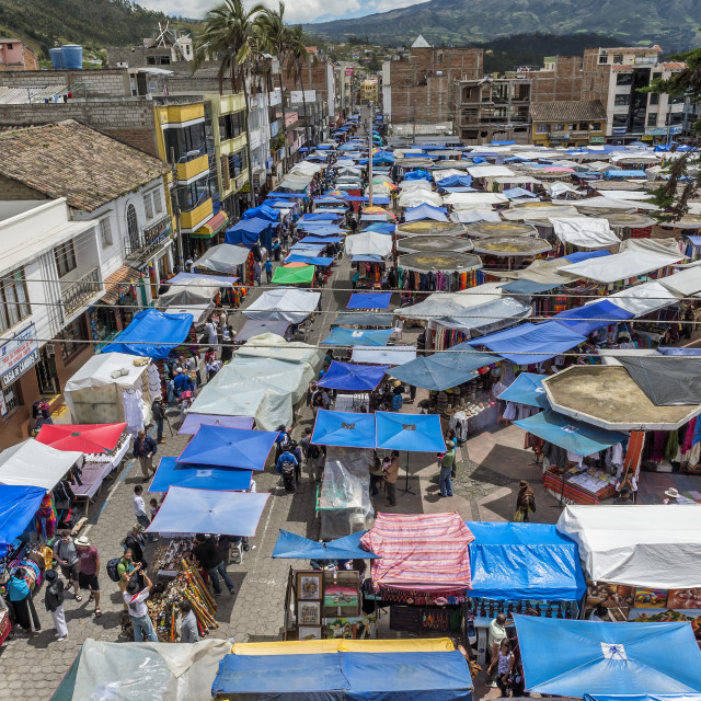 """Otavalo market, Imbabura Province, Ecuador, South America"" stock image"