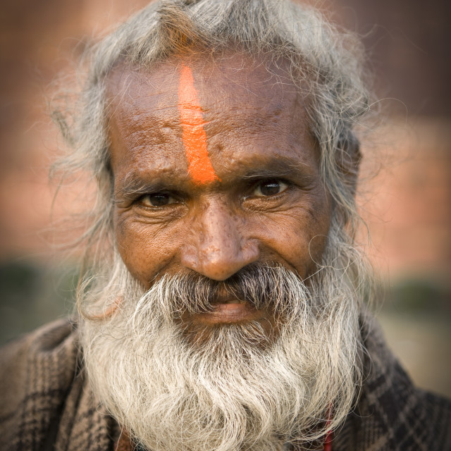 """Holy Man, Agra, India"" stock image"