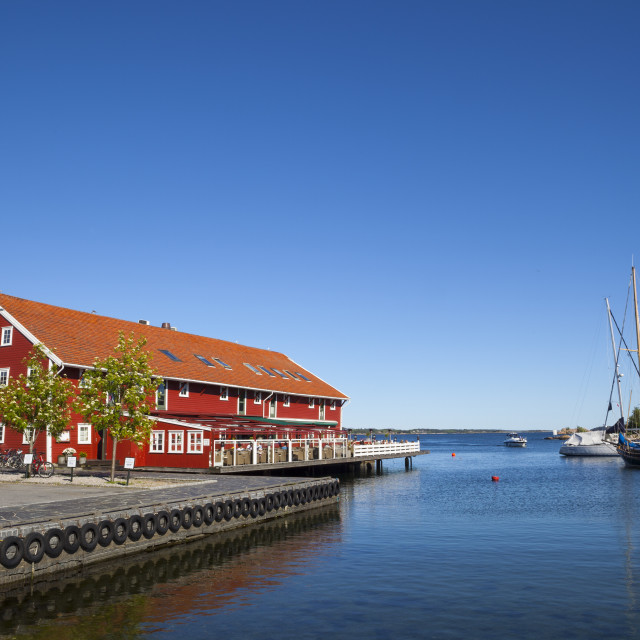"""Kristiansand harbor, Vest-Agder, Sorlandet, Norway, Scandinavia, Europe"" stock image"