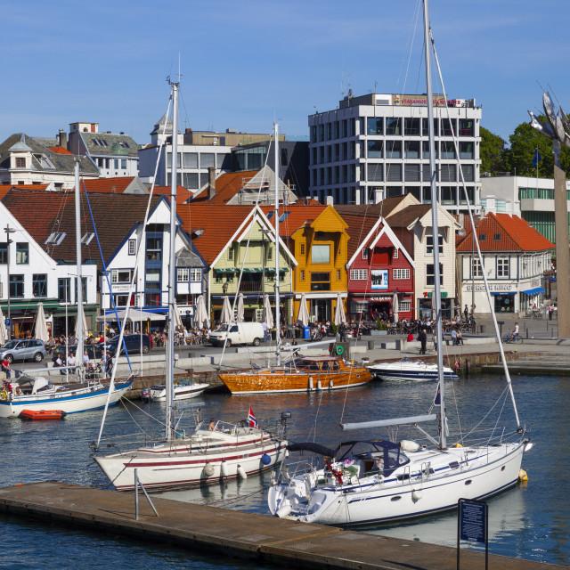 """""""Stavanger's picturesque harbor, Stavanger, Rogaland, Norway, Scandinavia, Europe"""" stock image"""