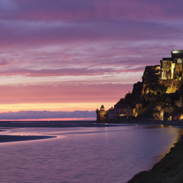 """""""Mont Saint Michel, UNESCO World Heritage Site, Department Manche, Region..."""" stock image"""