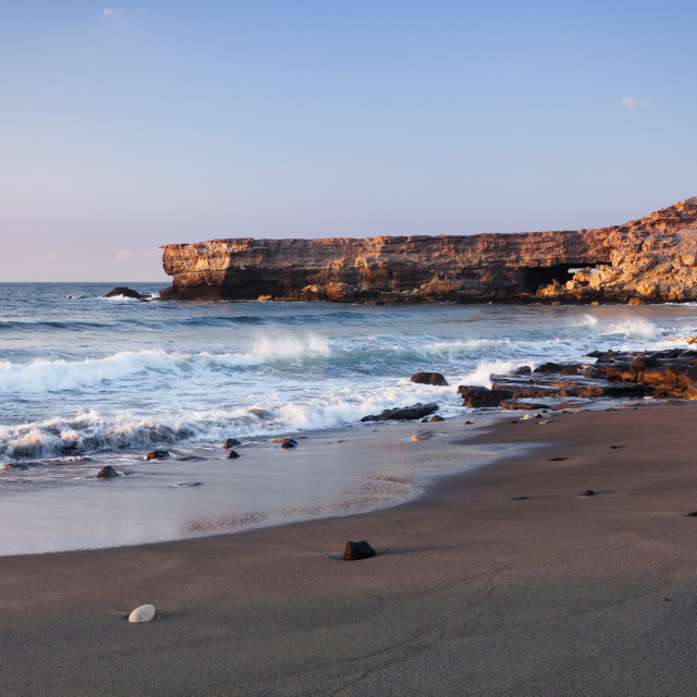 """Playa de la Pared, La Pared, Fuerteventura, Canary Islands, Spain, Atlantic,..."" stock image"