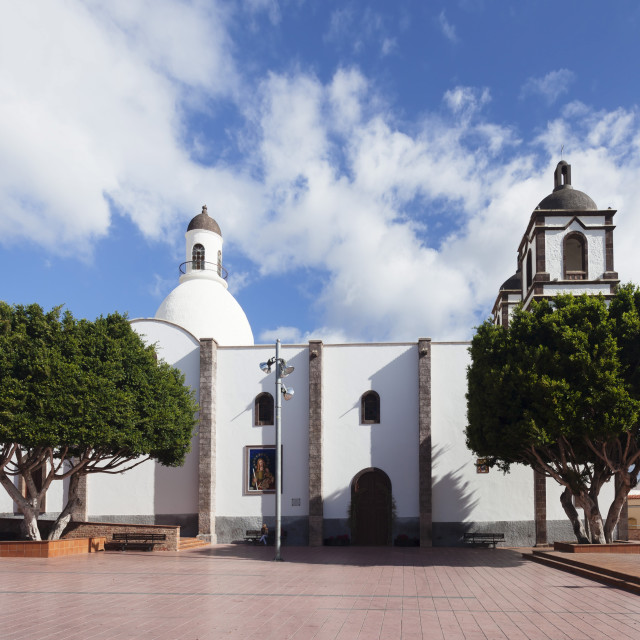 """Iglesia de la Candelaria church at the Plaza Candelaria, Ingenio, Gran..."" stock image"