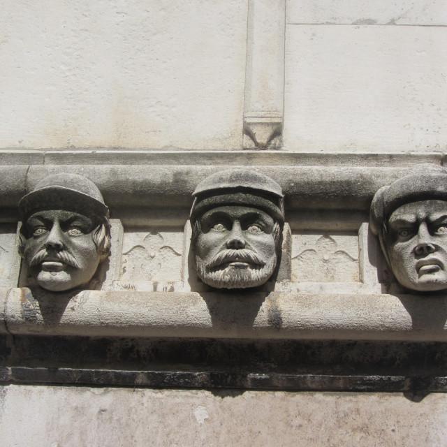 """Three Heads"" stock image"