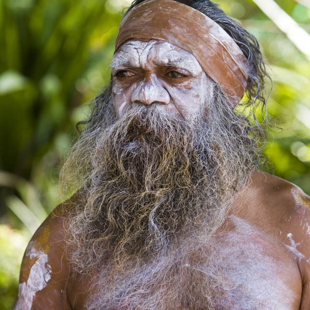 """Australian Aborigine, New South Wales, Australia"" stock image"