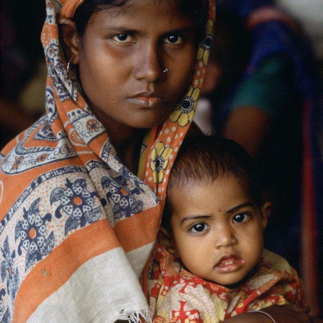 """Mother & child, Bangladesh"" stock image"